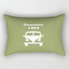 Summer 1969 - Green Rectangular Pillow