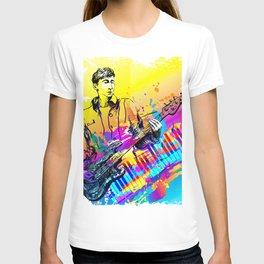Musician guitar player. Jazz rock music festival concert T-shirt