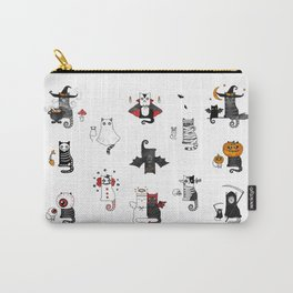 Halloween Cats In Terrible Imagery Carry-All Pouch