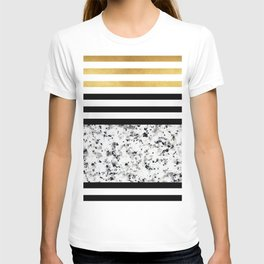 Luxurious marble with golden lines T-shirt