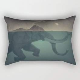Elephant mountain Rectangular Pillow