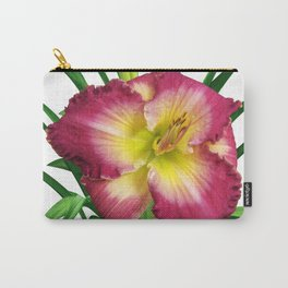 Daylily Solo - Hemerocallis 'Mountains Bow Down' Carry-All Pouch