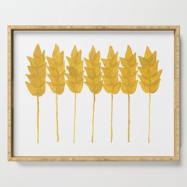 Golden wheat Serving Tray