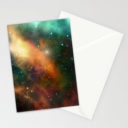 Universe Cosmos Nebula Colorful Pattern Space Stars Stationery Cards