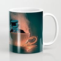 mad hatter Mugs featuring Evil Mad Hatter by Sberla