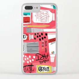 Love to Make Art! Clear iPhone Case