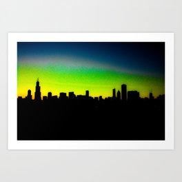 Modded Chicago Skyline Art Print