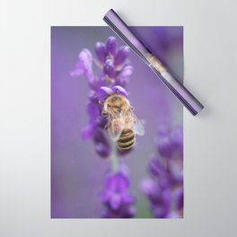 Lavender Bee Wrapping Paper