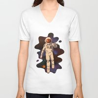 spaceman V-neck T-shirts featuring Spaceman by MadSensei