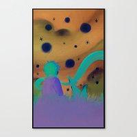 le petit prince Canvas Prints featuring Le Petit Prince by Gimena Gusteler