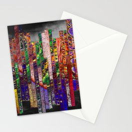 wall of bricks Stationery Cards