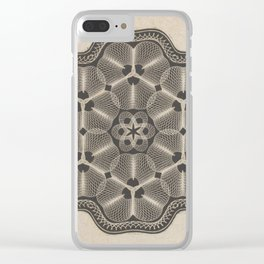 Bank Note Design Clear iPhone Case