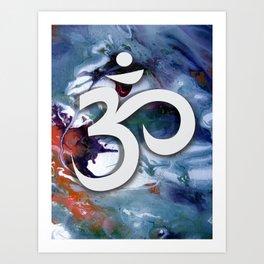 om amulet hindu trimurti pranava blessed enlightened success Art Print