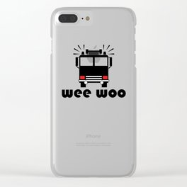 Firetruck Wee Woo Clear iPhone Case