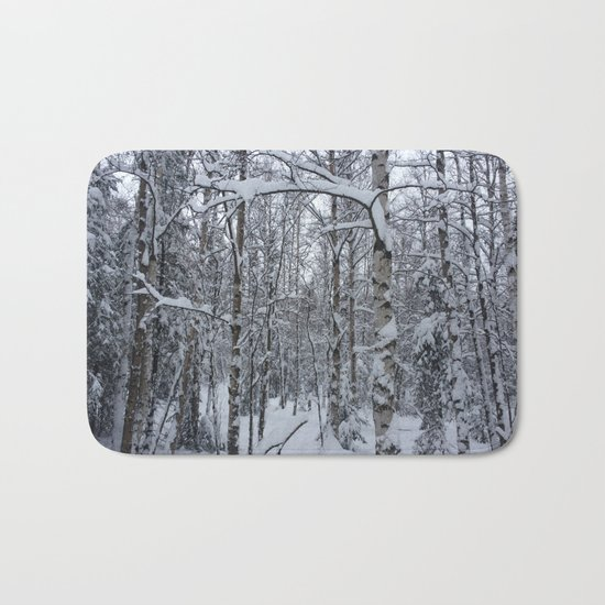 Winter Forest Bath Mat
