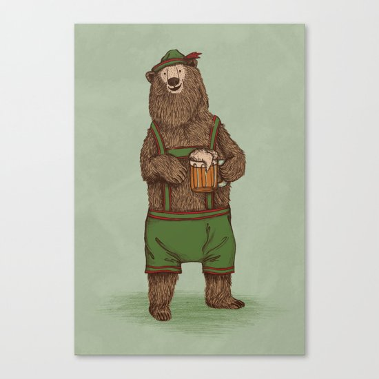 Traditional German Bear Canvas Print