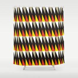 Geometric Pattern 119 (harlequin red yellow) Shower Curtain