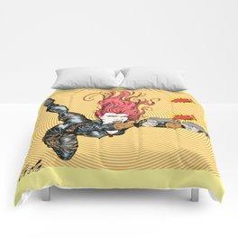 Black Widow Pop Bang Comforters