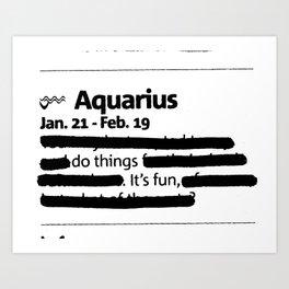 Aquarius - Limited Edition 2019 Art Print
