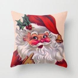 Cute vintage santa claus 2 Throw Pillow