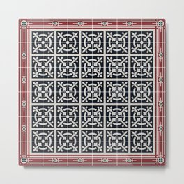 out on the tiles .. type 02 Metal Print