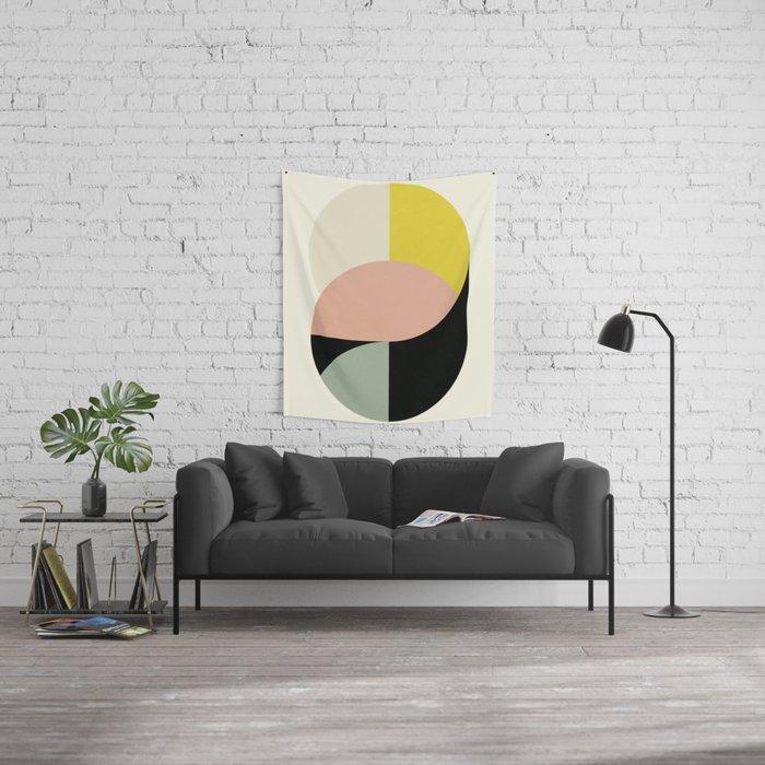 Abstract Circles Wall Tapestry