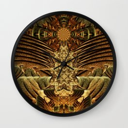 Gateway of the Ancients Temple Wall Clock