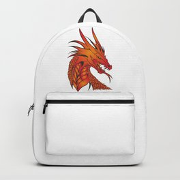 Red Dragon Illustration Backpack