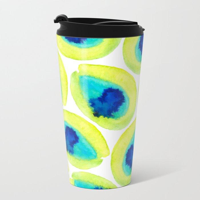 Electric Avocados Metal Travel Mug