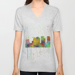 Tampa, Florida Skyline Unisex V-Neck