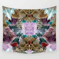 crystal Wall Tapestries featuring Crystal by Joanna Tadger