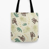 leaf Tote Bags featuring leaf by Ceren Aksu Dikenci