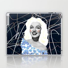 Marilyn in blue Laptop & iPad Skin