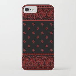 Classic Black and Red Bandana iPhone Case
