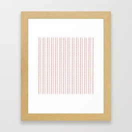 Pink Stitches Framed Art Print