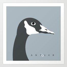 Canadian Goose on Blue 1 Art Print