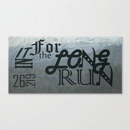 Long Run Canvas Print