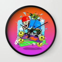 MountainBoard over the Horizon Wall Clock