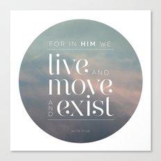 live / move / exist II Canvas Print