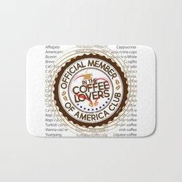 Coffee Lovers of America Club by Jeronimo Rubio 2016 Bath Mat