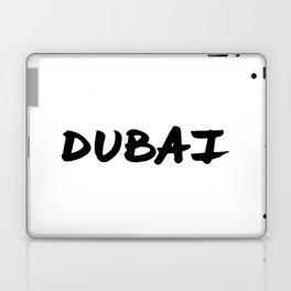 'Dubai' Hand Letter Type Word Black & White Laptop & iPad Skin