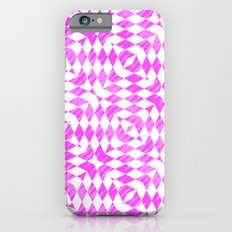 Pink And WHite abstract pattern iPhone 6s Slim Case
