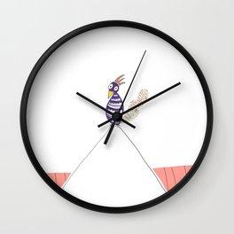 Purple Jimmy Wall Clock