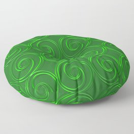Abstract circles green illustration. Floor Pillow