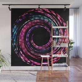 Spinning Polka Dot Circle Wall Mural