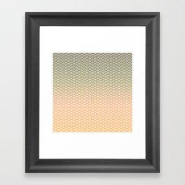Geometric Melon Pattern Framed Art Print