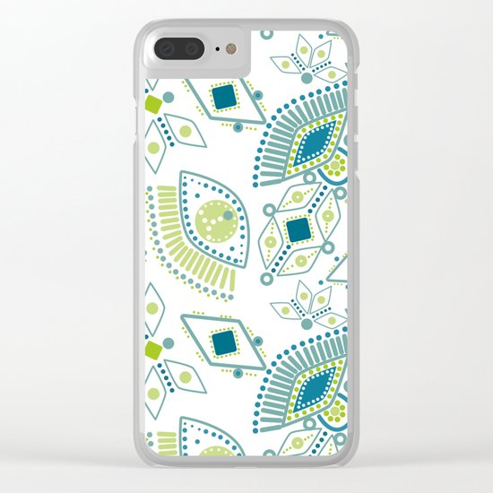 Ethnic pattern . Eye 2 . Clear iPhone Case
