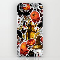 saga iPhone & iPod Skins featuring Halloween Spooky Cartoon Saga by BluedarkArt