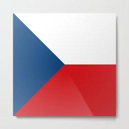 Flag of Czech Republic Metal Print