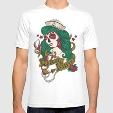 Casual Dreamer MEDIUM White Mens Fitted Tee